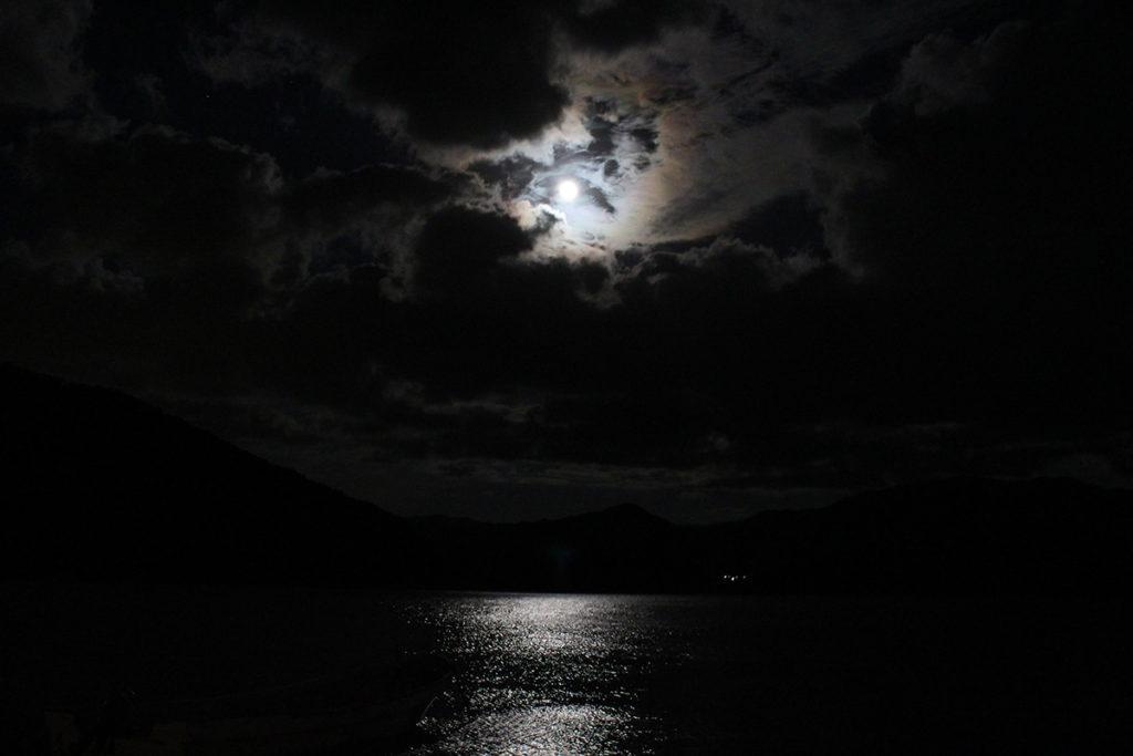ナイトカヤック 水月湖